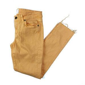 Rich & Skinny Tangerine Orange Cutoff Hem Jeans 27